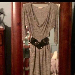 Stylish belted dress