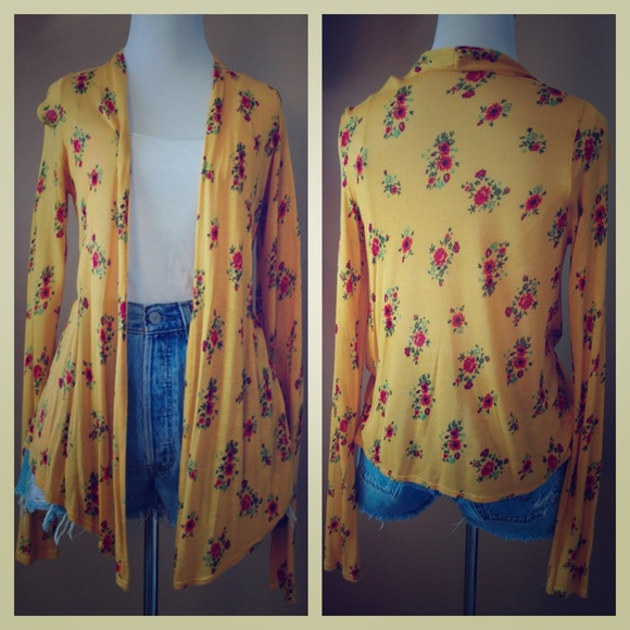 50% off Urban Outfitters Sweaters - NWOT Kimchi Blue yellow floral ...