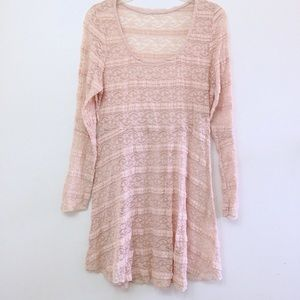 Vintage Dresses & Skirts - Boho Vintage Cream Lace Festival hippie Dress