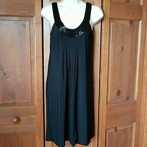 Bisou Bisou Dresses & Skirts - Black Beaded Bisou Bisou Dress