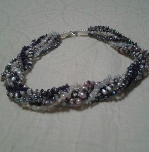 Jewelry - GENUINE Pearl and Gemstone Torsade