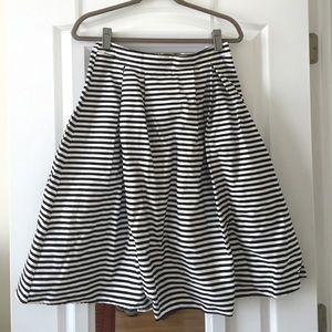 Dresses & Skirts - Black and white striped midi skirt