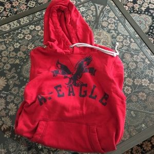 AE Outfitters Red Sweatshirt