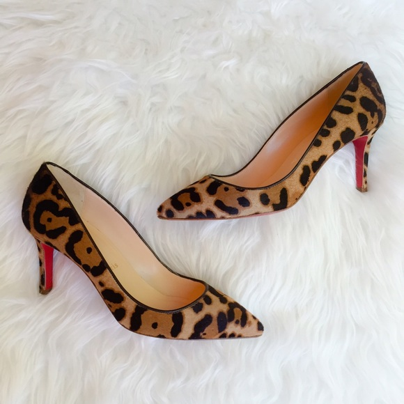 super popular cbb6a fcff1 Christian Louboutin Iriza 70 Pumps, Leopard Pony