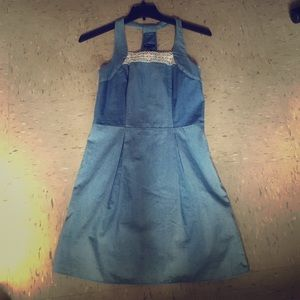 Blue Denim Like Dress