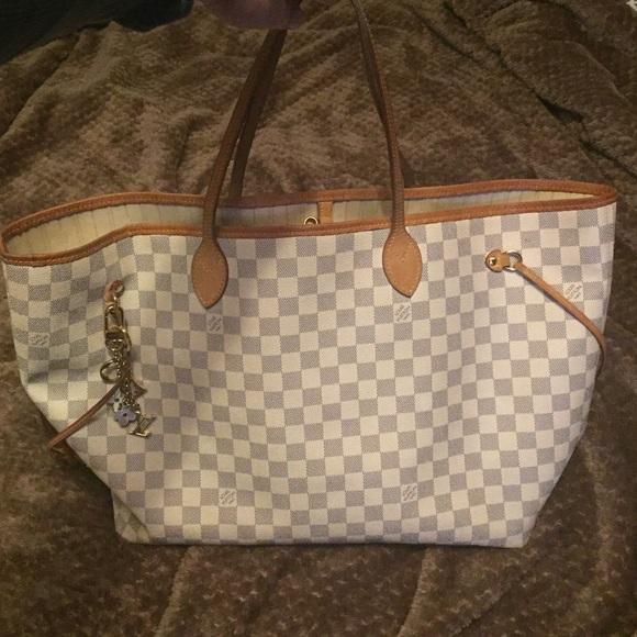 Louis Vuitton Handbags - Authentic Louis Vuitton Damier azur NEVERFULL tote