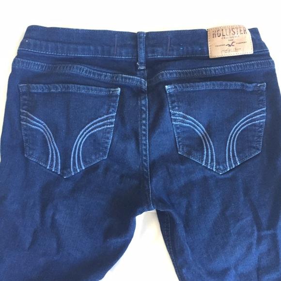 dark hollister jeans