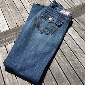 True Religion Joey Big T Twisted Inseam Jeans 28