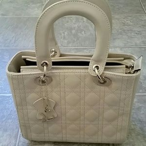 Handbags - New Quilted Leather Handbags in Cream or Black.