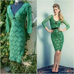 Wheels and dollbaby lace fifi dress green