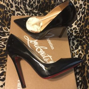 christian louboutin pigalle 120 black patent