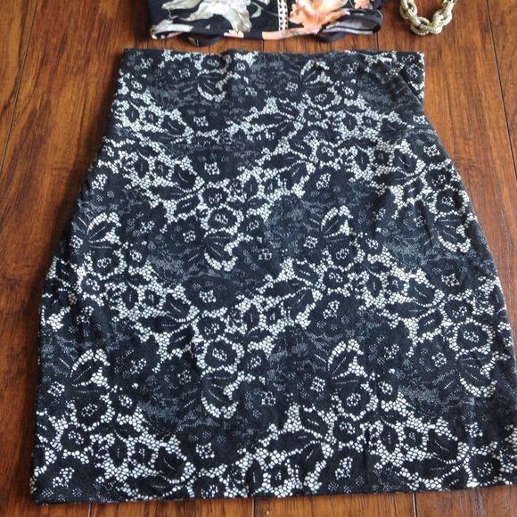 Urban Outfitters Skirts - Black lace mini skirt