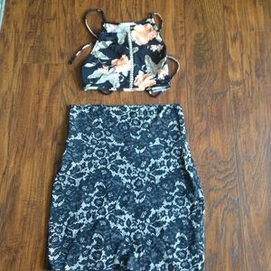 Urban Outfitters Dresses & Skirts - Black lace mini skirt