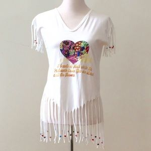 Tops - Boho Chic Fringe Top Size S