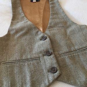 Lux Tops - Tweed Vest with Gold
