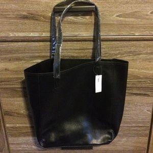 Black Faux Leather Old Navy bag