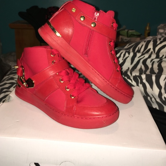 red gold shoes cheap online