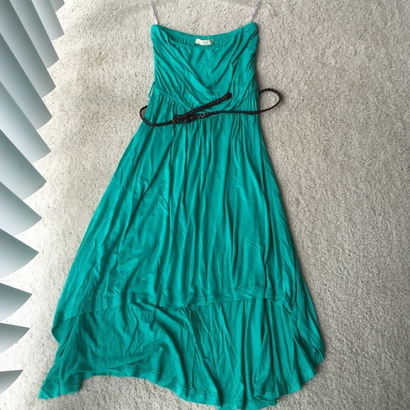 50 iris dresses skirts blue green strapless dress