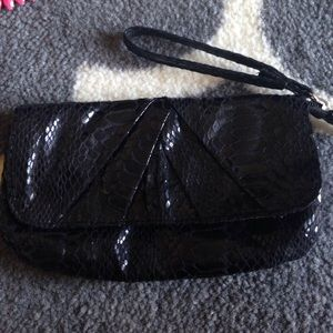 Urban Outfitters Bags - Black snakeskin clutch