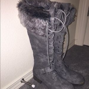JustFab winter boots on Poshmark