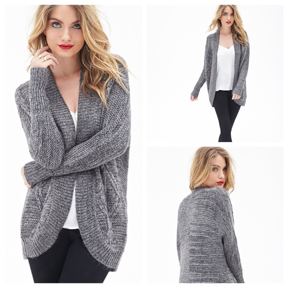 Forever 21 Sweaters | Cable Knit Batwing Cardigan | Poshmark