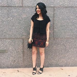 Forever 21 Dresses & Skirts - Embroidered Skirt