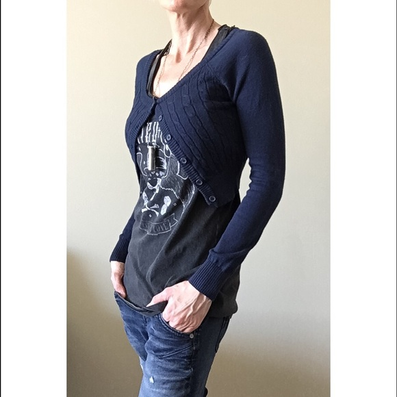 MAK - Cropped Cardigan - Navy Blue - Gently Used from Krystallen's ...