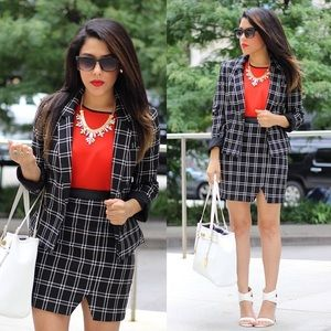 Dynamite Dresses & Skirts - Black & White Plaid Skirt
