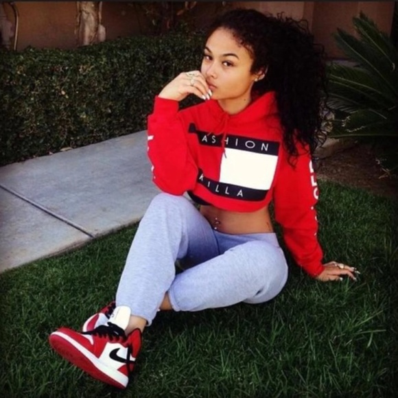 21438dfda42a3 ...  Fashion Killa  Crop Hoodie. M 57005a733c6f9faa8b01140b
