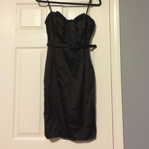 Amazing ABS black strapless dress