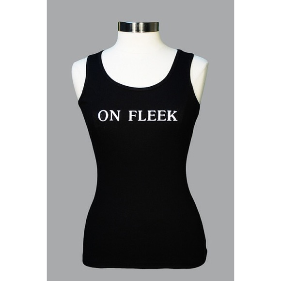 "Embroidered ""On Fleek"" Tank Top"