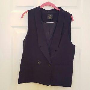 Adrianna Papell Jackets & Blazers - Navy tuxedo oversized boyfriend vest