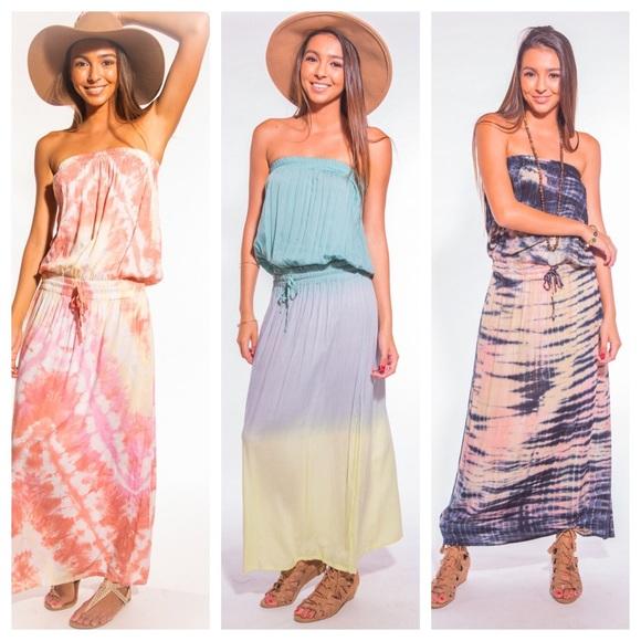 Tiare Hawaii Dresses Tiara Hawaii Radiance Tie Dye Maxi Dress