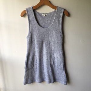 Gray Silence and Noise Tunic Tank