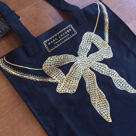 c246f15272 Marc Jacobs Bags | Gold Bow Black Tote Reusable Bag | Poshmark