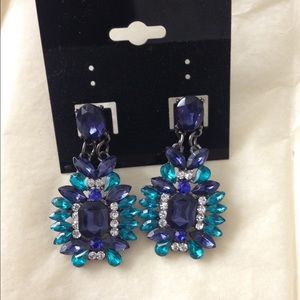 Iconic Legend Jewelry - Blue Crystal Earrings
