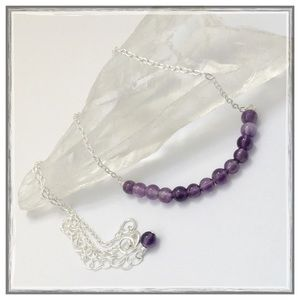 Lord & Taylor Jewelry - ✨💜Sterling Silver Amethyst Bar Necklace💜✨