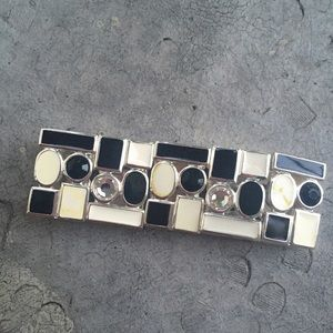 Jewelry - Black and White Art Deco Bracelet