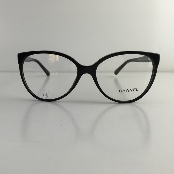 chanel frames. chanel accessories - new chanel eyeglasses 3312 c. 1503 black acetate frames g