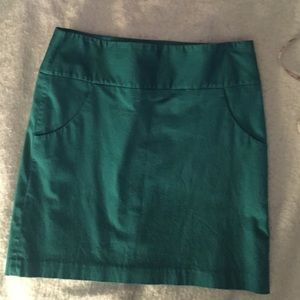Teal Lined Skirt
