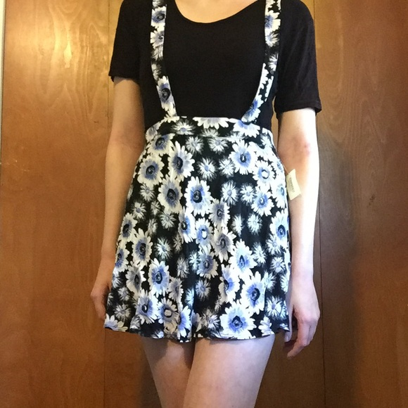 46bf93de576 Aeropostale Bethany Mota Daisy Suspender Skirt
