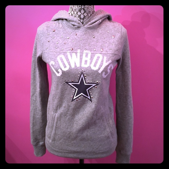 VS PINK Dallas Cowboys Bling Sweatshirt. M 57006e814e95a30e34013643 3e2996581