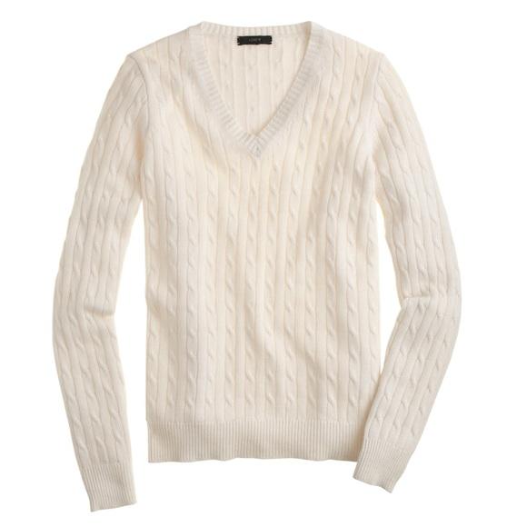 a1b6199f9 J. Crew Sweaters - J. Crew Cambridge Cable V-Neck Sweater