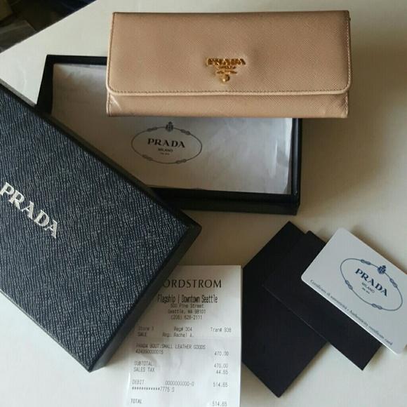 a72357486b0 Sale!!! PRADA Saffiano Leather Wallet Cammeo Nude.  M 570079912de5121f9a0af2e7