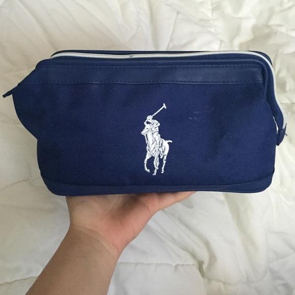 521dfb4b36 Ralph Lauren Blue Polo Bag Makeup Travel. M 57007a983c6f9f3b7e014d8e