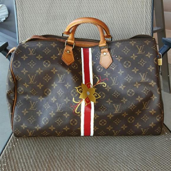 bd7819706e41 Louis Vuitton Handbags - Traded ...vintage Custom Painted Speedy 40 👜