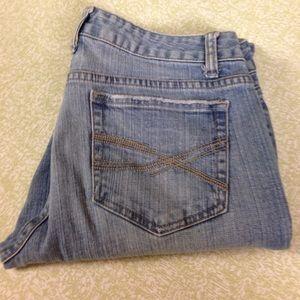 Aeropostale Denim - Aeropostale Bayla Skinny Leg 9/10 Jeans Distressed