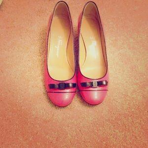 Rose pink color Salvatore Ferragamo shoes
