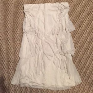 Foley + Corinna White Layered Strapless Dress NWT
