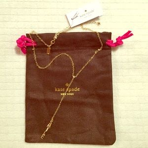 HP 11.20 kate spade♠'️SMILE' Y necklace